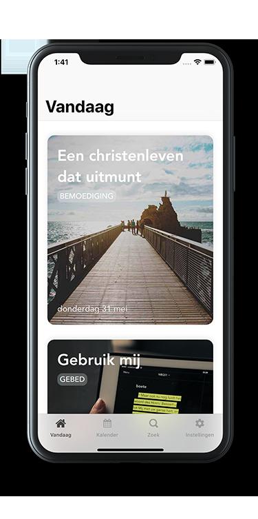 iedere dag met god de app iphone x 1 - Home